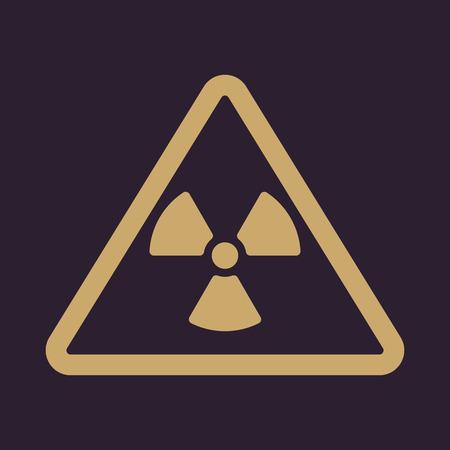 caution chemistry: The radiation icon. Radiation symbol. Flat Vector illustration Illustration
