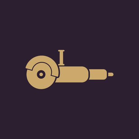 grinder: The grinder icon. Grinder symbol. Flat Vector illustration