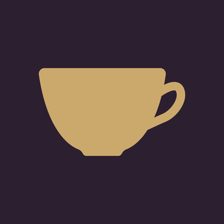 dine: The cup icon. Tea symbol. Flat Vector illustration Illustration