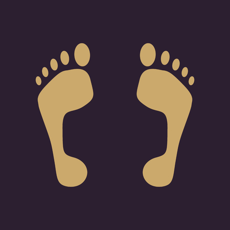 alibi: The footprint icon. foot symbol. Flat Vector illustration