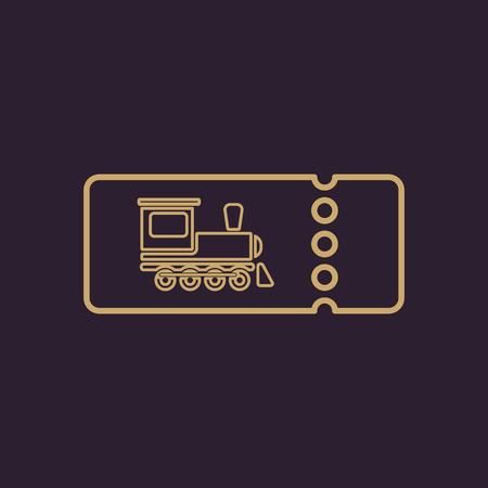 train ticket: The blank train ticket icon. Travel symbol. Flat Vector illustration Illustration