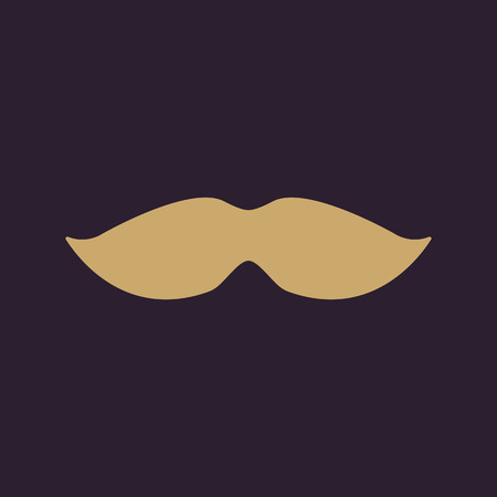 whisker: The moustache icon. Whisker symbol. Flat Vector illustration Illustration