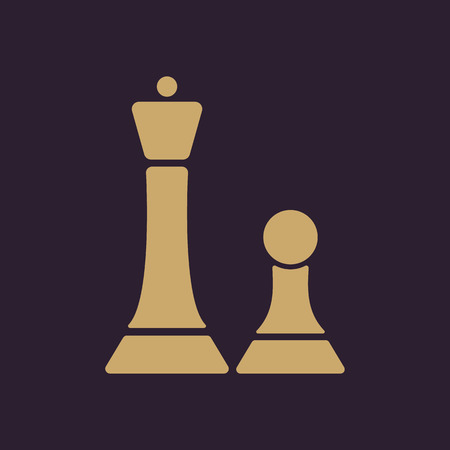 sport mats: The chess icon. Game symbol. Flat Vector illustration