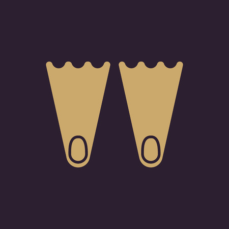 flippers: The flippers icon. Diving symbol. Flat Vector illustration Vectores