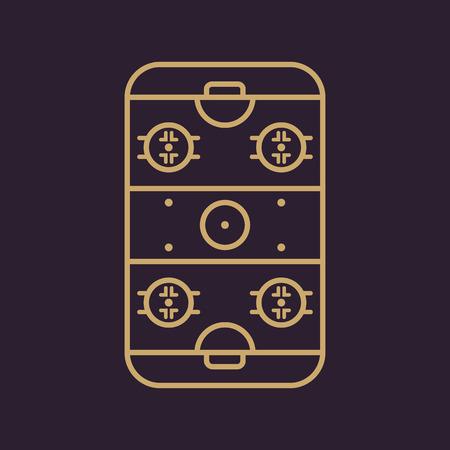 hockey rink: Ice Hockey Rink icon. Game symbol. Flat Vector illustration Illustration