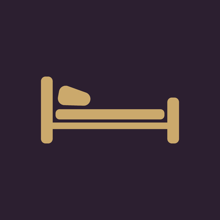 L'icône de lit. symbole Hôtel. Flat Vector illustration