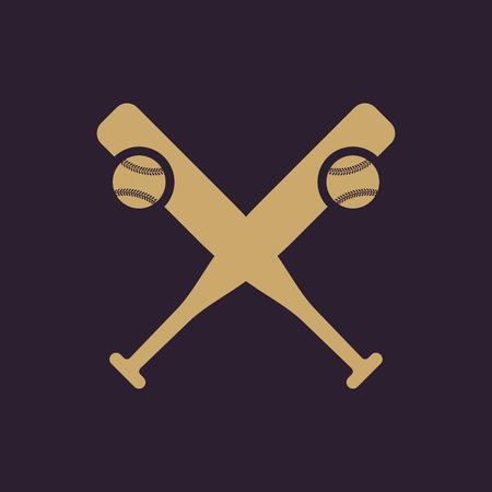 Baseball icon. Sport symbol. Flat Vector illustration