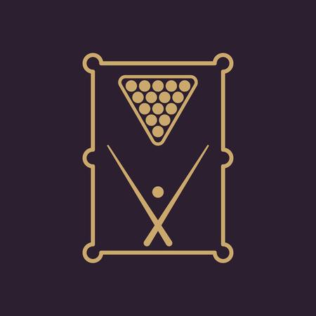 billiards rooms: The billiard table icon. Game symbol. Flat Vector illustration Illustration