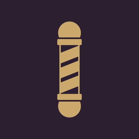 barbershop: The Barber Pole icon. Barbershop symbol. Flat Vector illustration Illustration