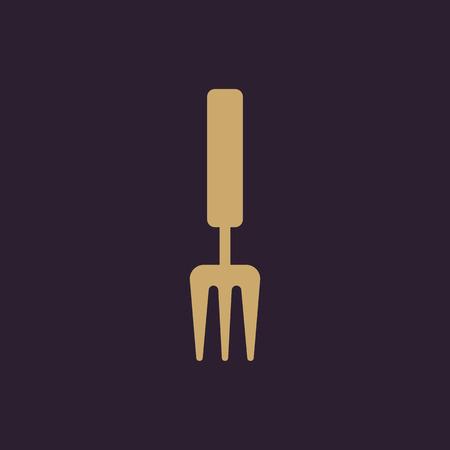 raking: The rake icon. Raking symbol. Flat Vector illustration