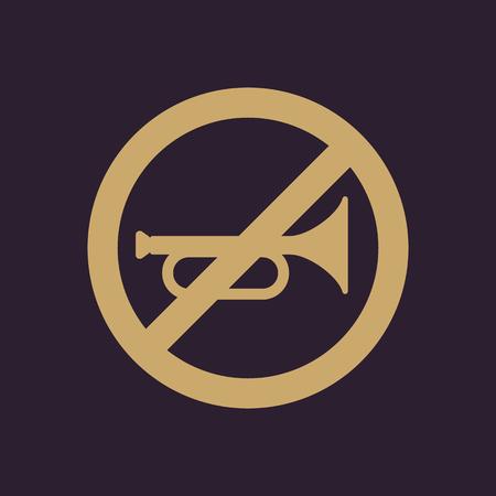 noiseless: The keep quiet icon. No sound symbol. Flat Vector illustration. Button Set Illustration