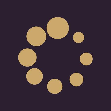 The loading icon. Load symbol. Flat Vector illustration Illustration