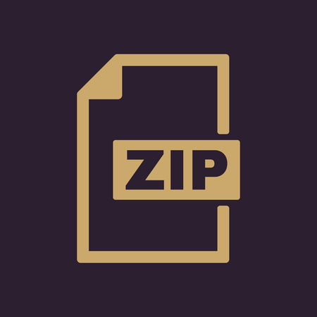 zip: The ZIP file icon. Archive, compressed symbol. Flat Vector illustration Illustration