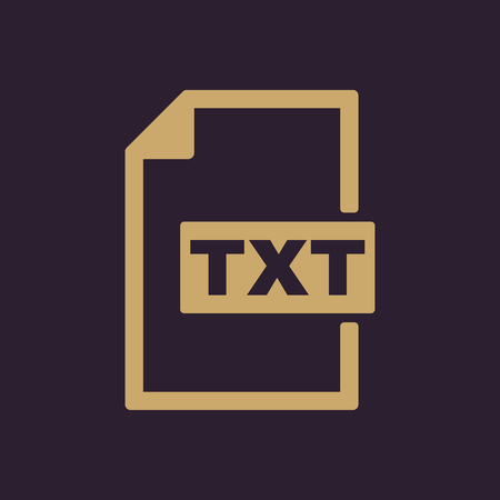 txt: The TXT icon. Text file format symbol. Flat Vector illustration
