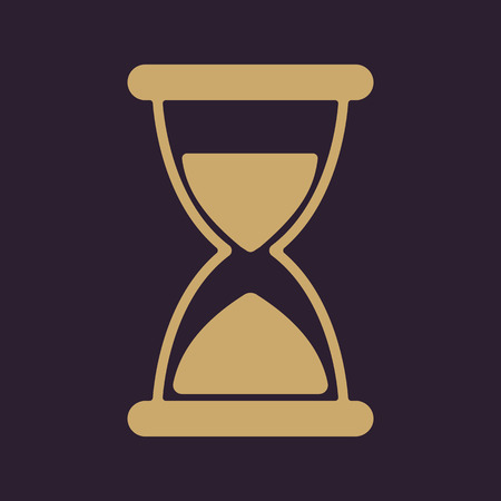 chronometer: The hourglass icon. Chronometer and timer, clock symbol. Flat Vector illustration