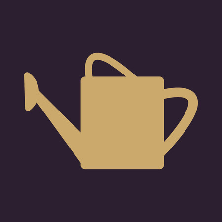 wateringcan: The watering can icon. irrigation symbol. Flat Vector illustration