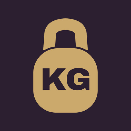 circular muscle: The kilogram icon. Kg and weight symbol. Flat Vector illustration