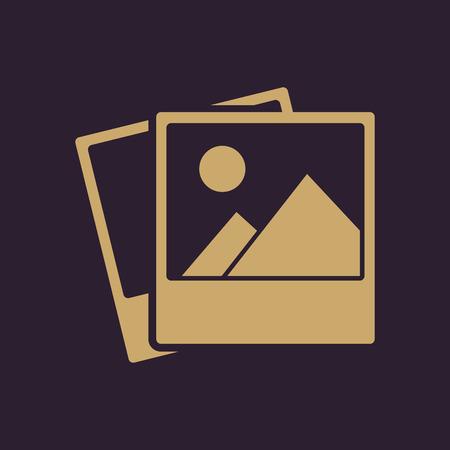 snapshot: The photo icon. photograph and image, snapshot symbol. Flat Vector illustration Illustration
