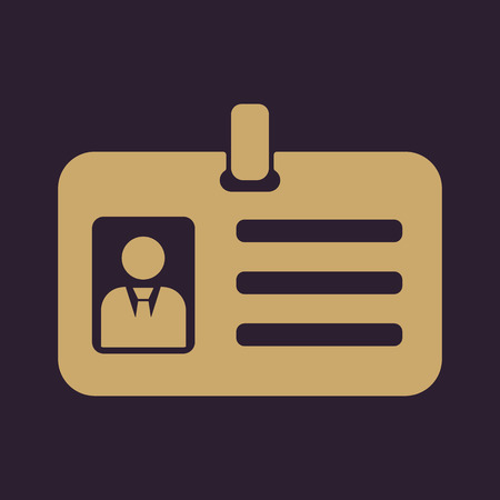 accreditation: The accreditation icon. Admission and badge, identification, pass symbol. Flat Vector illustration