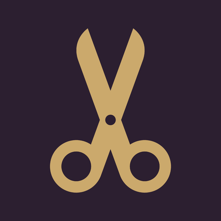 cut off: The scissors icon. Shears and clippers, cut off symbol. Flat Vector illustration Illustration