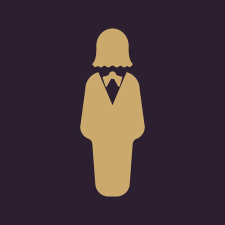 female symbol: The business woman icon. Avatar and user, girl, female symbol. Flat Vector illustration