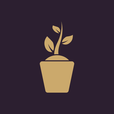germinate: The sprout wreath icon. Plant and herb, nature symbol. Flat Vector illustration