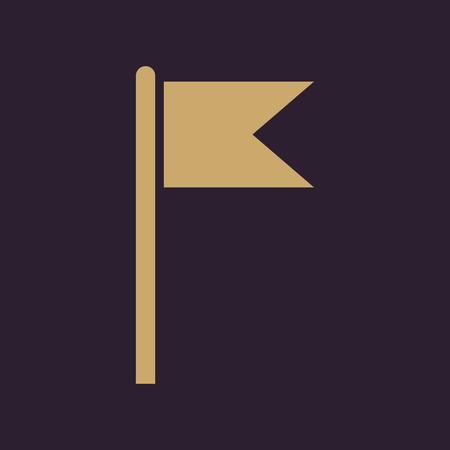 navigation mark: The flag icon. Mark and navigation symbol. Flat Vector illustration