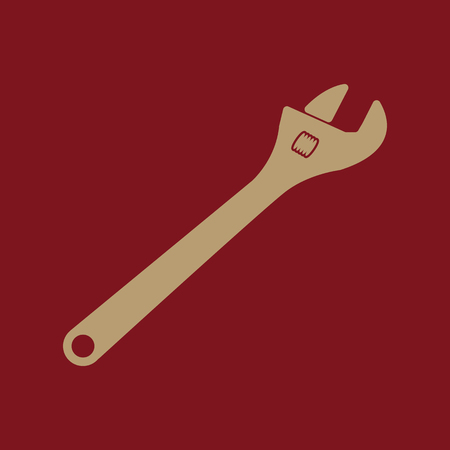 adjustable: The adjustable wrench icon. Adjustable wrench symbol. Flat. Vector illustration