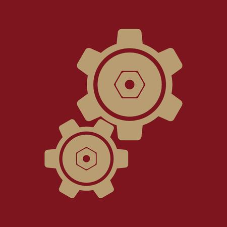 The settings icon. Gears symbol. Flat Vector illustration Illustration