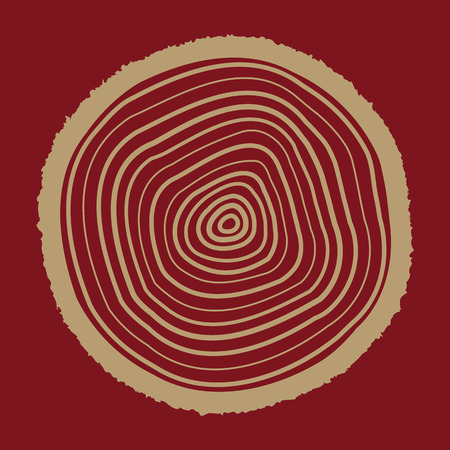 The tree rings icon. Tree rings symbol. Flat Vector illustration.
