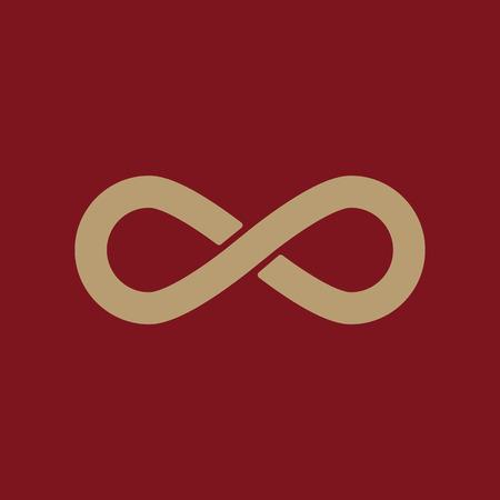 The infinity icon. Infinity symbol. Flat Vector illustration