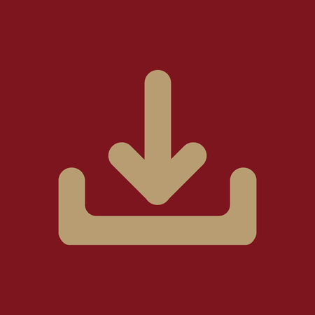The download icon. Load symbol. Flat Vector illustration