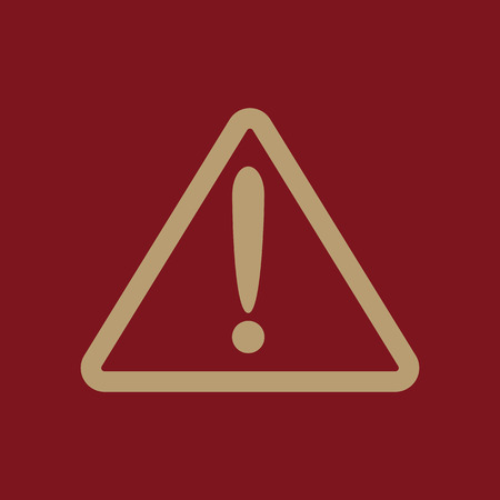 attention icon: The attention icon. Danger symbol. Flat Vector illustration