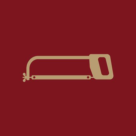 The hacksaw icon. Hacksaw symbol. Flat Vector illustration Illustration
