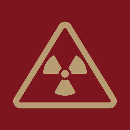 El icono de la radiación. Símbolo de la radiación. Ilustración del vector plana