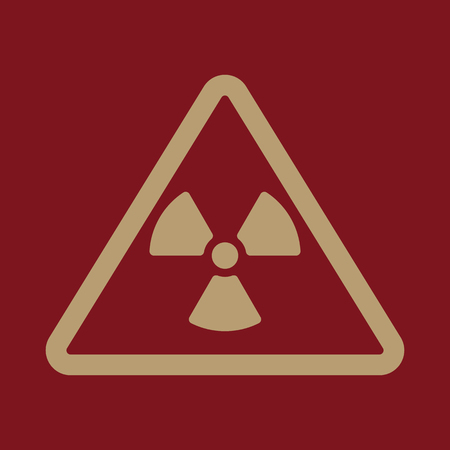 The radiation icon. Radiation symbol. Flat Vector illustration Illustration