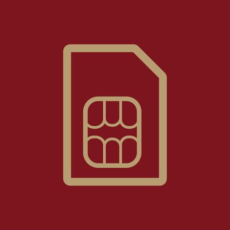 sim: The sim card icon. Sim card symbol. Flat Vector illustration Illustration