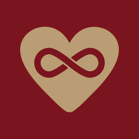 The Heart And Infinity Icon Heart And Infinity Symbol Flat