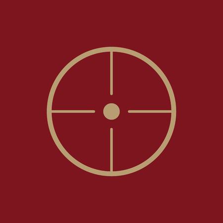 The crosshair icon. Search symbol. Flat Vector illustration Illustration