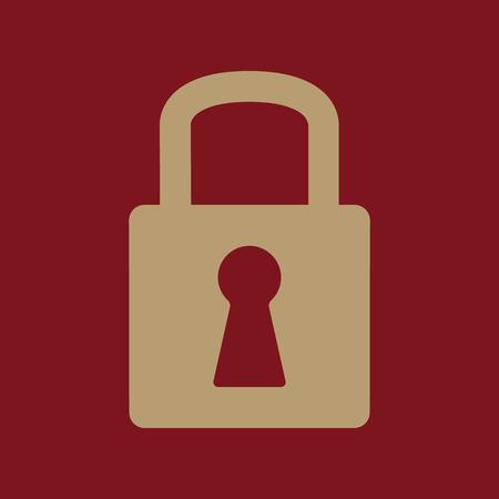 lock symbol: The lock icon. Lock symbol. Flat Vector illustration Illustration