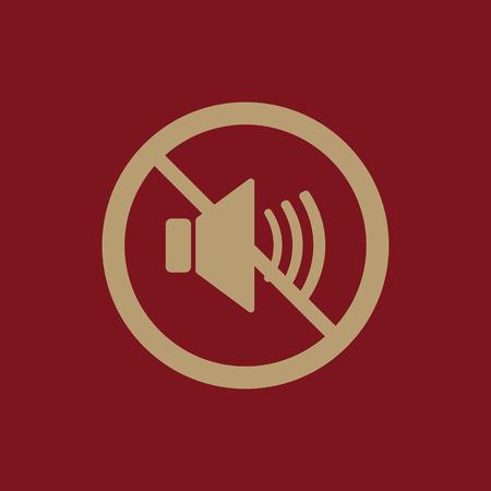aloud: The no sound icon. Volume Off symbol. Flat Vector illustration