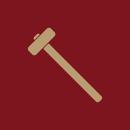 The sledgehammer icon. Sledgehammer symbol. Flat Vector illustration