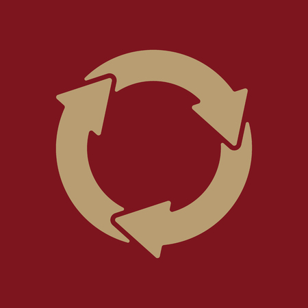 dumpster: The waste processing icon. Bio symbol. Flat Vector illustration