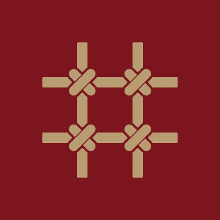 prison bars: The prison bars icon. Grid symbol. Flat Vector illustration