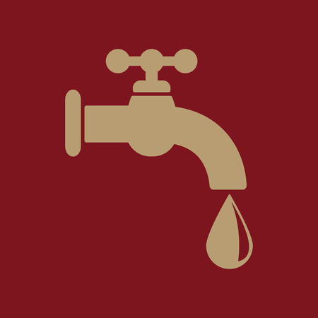 trickle: The tap water icon. Water symbol. Flat Vector illustration Illustration