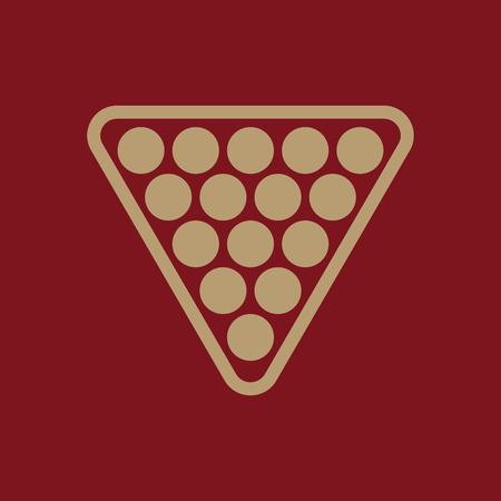 The billiard icon. Billiards symbol. Flat Vector illustration