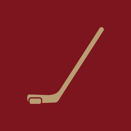 icehockey: Hockey icon. Game symbol. Flat Vector illustration Illustration