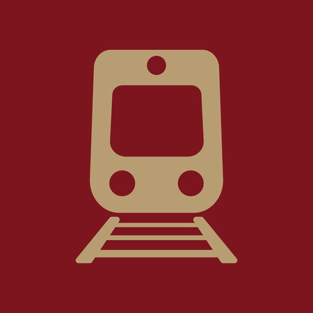 locomotion: The train icon. Railway symbol. Flat Vector illustration