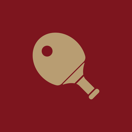 The tennis icon. Ping pong symbol. Flat Vector illustration