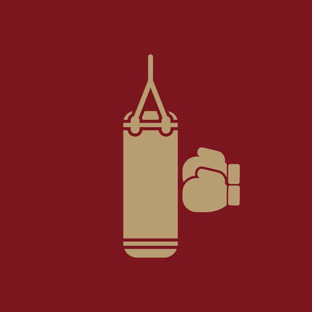punching: The boxing icon. Sport symbol. Flat Vector illustration